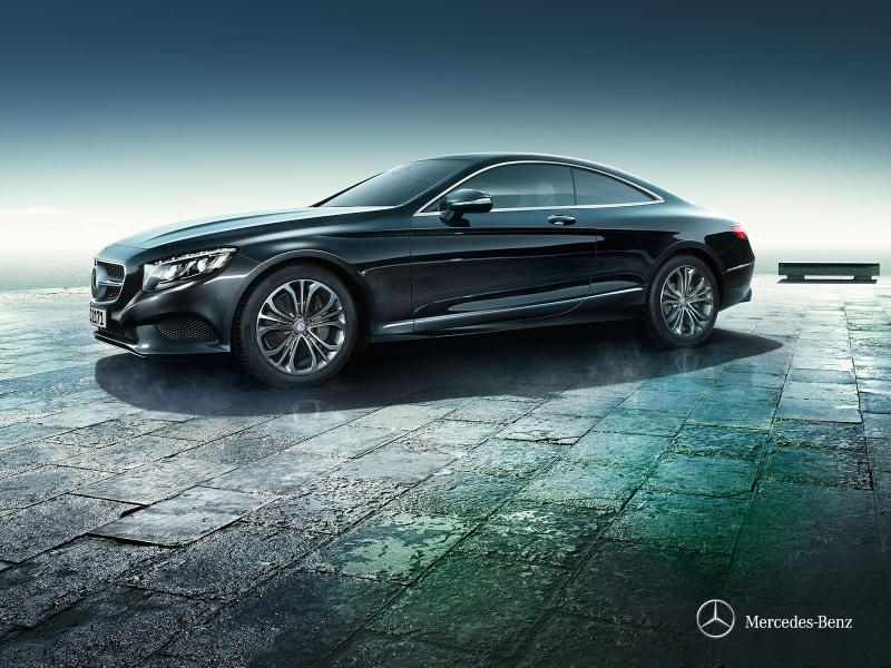 Mercedes S-klasse coupe: слева сбоку