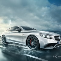 Mercedes S-klasse coupe: спереди справа